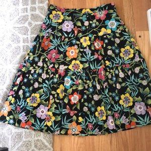 J.crew midi floral skirt.